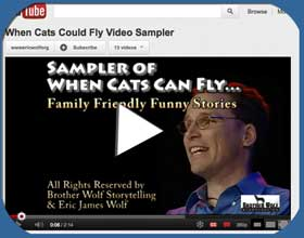 Sampler Video of Brother Wolf Perfroming Funny Stories to a live audience